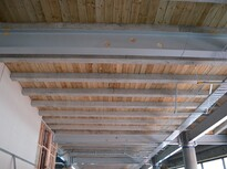Preco Rib and timber infill flooring from below a suspended floor